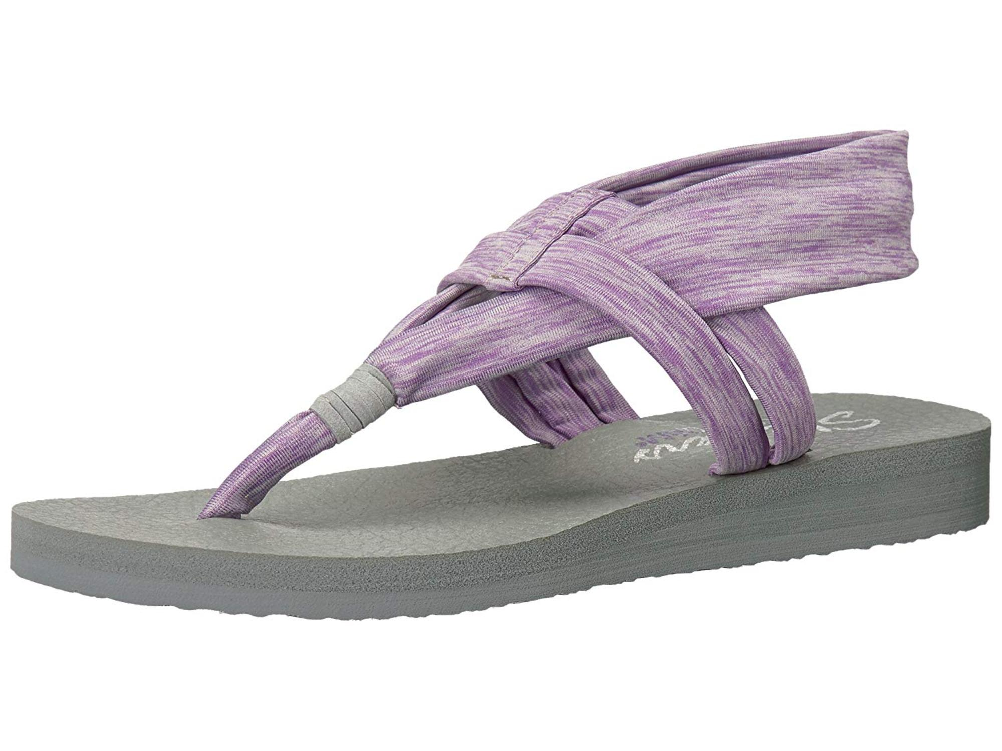 Skechers Womens Meditation-Studio Kicks Open Toe Casual Ankle Strap Sandals