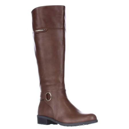 Womens A35 Jadah Tall Wide Calf Riding Boots, Cognac, 6
