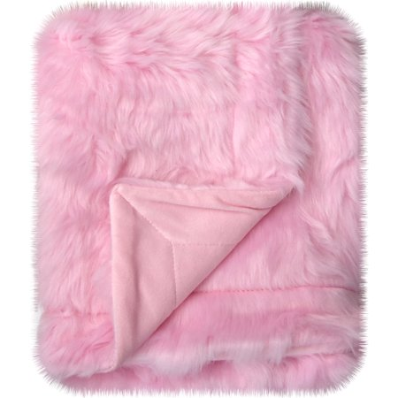 Little Starter Pink Mongolian Soft Blanket