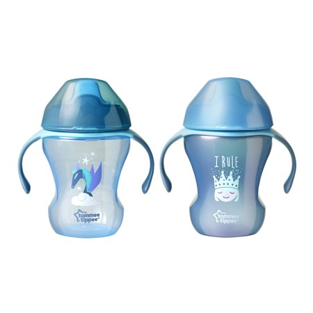 Tommee Tippee Infant Trainer Sippee Cup, 7+ months – 8 ounces, 2 count (Colors May (Cut Trainer)