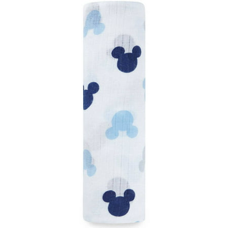 Baby Anais Muslin Wrap Swaddle Newborn Baby Pink Green Blue Mickey Minnie Mous Non-Ironing Aden