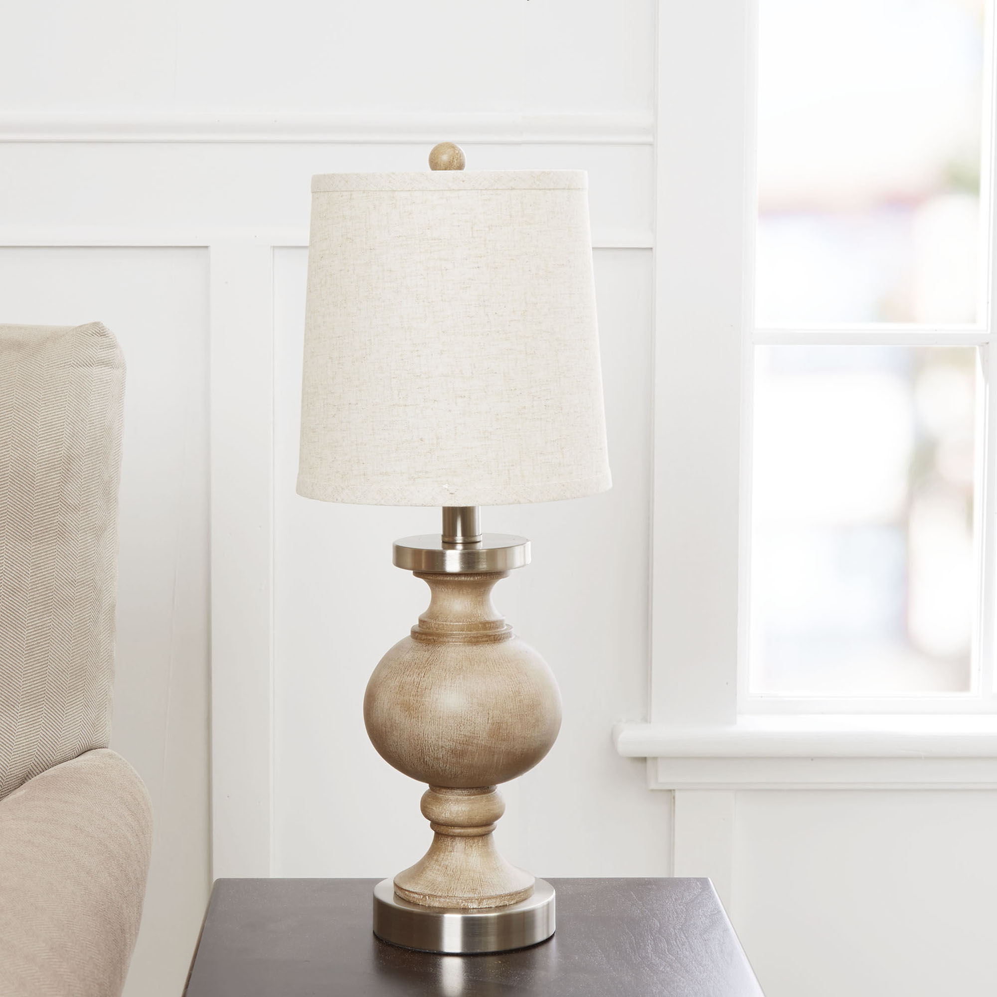 Click here to buy Better Homes and Gardens Weathered Finish Table Lamp by Cheyenne Products.