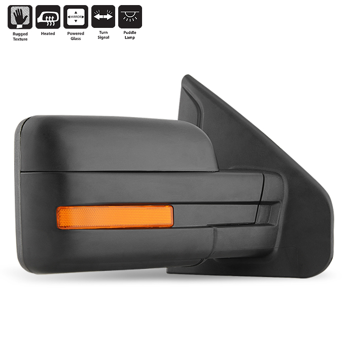 Right side for Ford Mustang 06-13 Wide Angle heated wing mirror glass plate