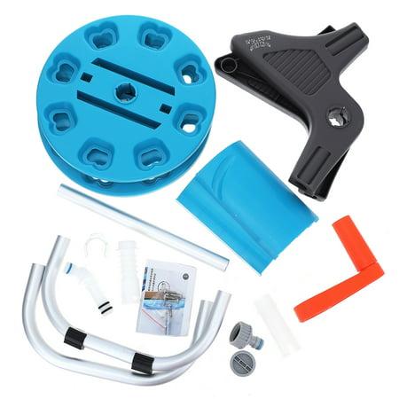 Portable Wall-Mount Garden Pipe Water Hose Reel Organizer Handheld Cart Outdoor - image 9 of 13