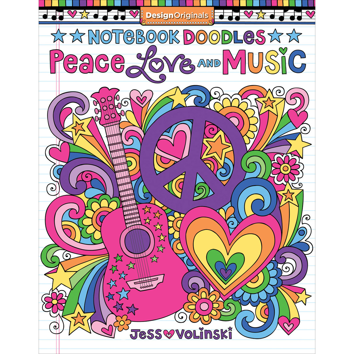 NEW! Design Originals-Peace Love And Music