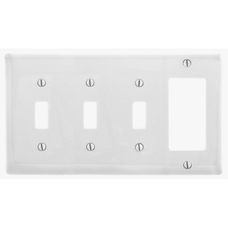 ... bryant electric np326w wallplate nylon standard size 4-gang 3 toggle  sc 1 st  Walmart.com & bryant electric np326w wallplate nylon standard size 4-gang 3 ...