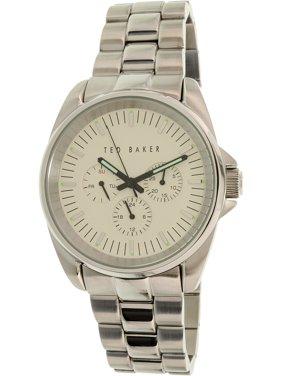 Ted Baker Men's Silver Stainless-Steel Quartz Dress Watch 10025264