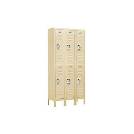 Salsbury Industries Standard Metal Locker-Double Tier-3 Wide--Unassembled
