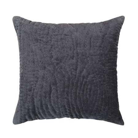 Kyzer Cotton Velvet Hand Quilted Decorative Throw Pillow -