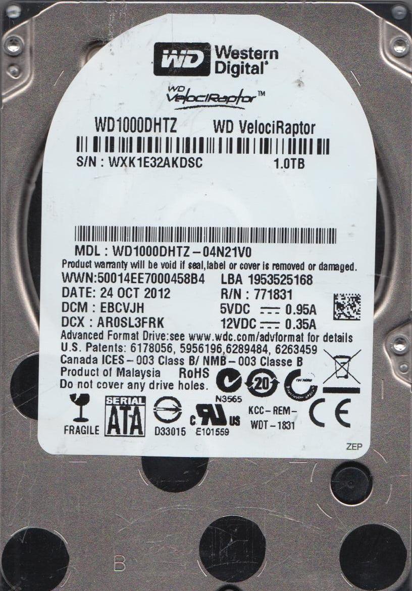 WD1000DHTZ-04N21V0, DCM EBCVJH, Western Digital 1TB SATA 2.5 Hard Drive by Western Digital