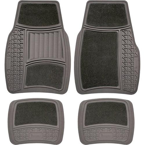 Michelin 4PC Carpet/Rubber Mats Gray