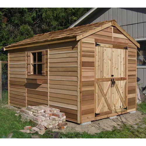 Cedar Shed 8 x 12 ft. Rancher Storage Shed