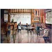 "Trademark Art ""Diner for Two"" Canvas Art by Ryan Radke"