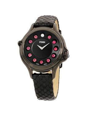 1654fb4b3d06 Product Image Fendi Crazy Carats Black Dial Leather Strap Ladies Watch  F110031011T05