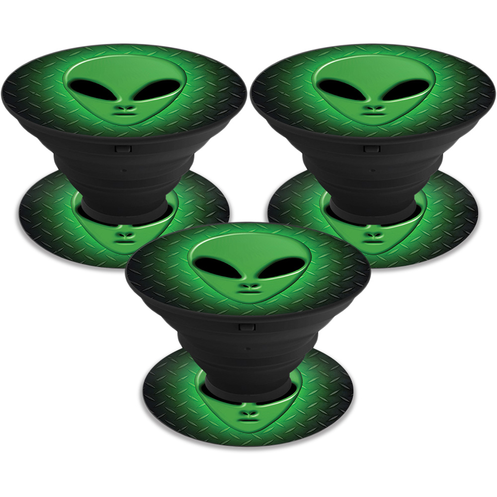 MightySkins Skin For PopSocket PopSocket - Alien Invasion | Protective, Durable, and Unique Vinyl Decal wrap cover | Easy To Apply, Remove, and Change Styles | Made in the USA