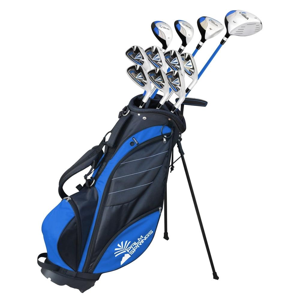 Palm Springs Golf VISA V2 MENS GRAPHITE STEEL +1 Inch Club Set & Stand Bag by