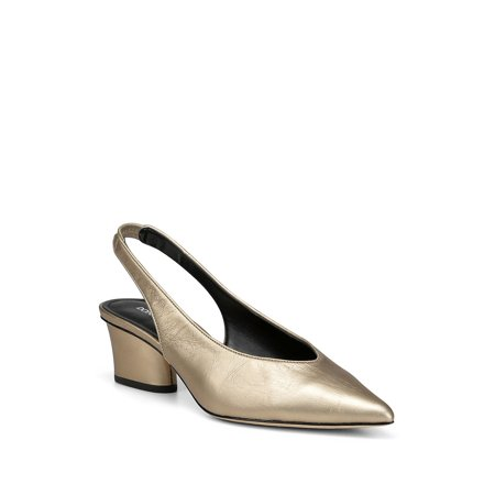 Gema Metallic Leather Slingback Heels Donald J Pliner Ankle Strap Platforms