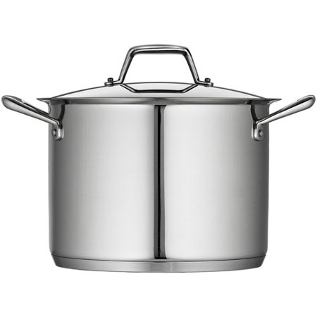 Tramontina Gourmet Prima 8-Quart Covered Stock Pot with Tri-Ply Base