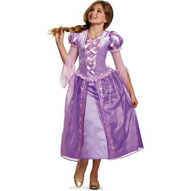 Tween Girls Disney Princess Tangled Rapunzel Dress Costume Walmart Com Walmart Com