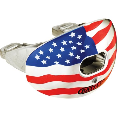Battle Sports Science Oxygen American Flag Chrome Lip Guard Red/White/Blue