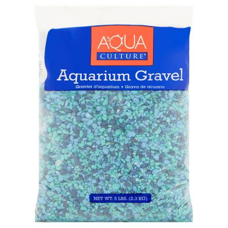 Saltwater Aquarium Gravel - Aqua Culture Aquarium Gravel, Blue, 5 lb