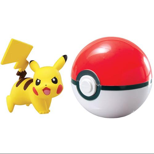 Pokemon TOMY Clip n Carry Pokeball Pikachu & Poke Ball Figure Set