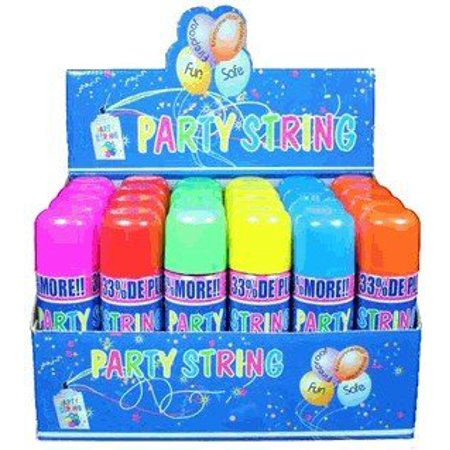 Blue Box Party String - not Silly String - 12 Cans, Don't be crazy... Buy the Party Strin, By - Cheap Silly String