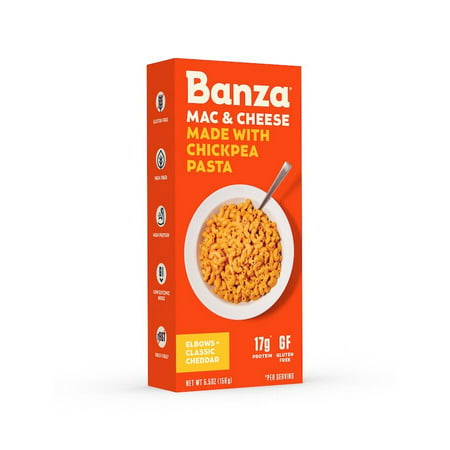 Banza Chickpea Mac & Cheese, Classic Cheddar Cheese, 5.5