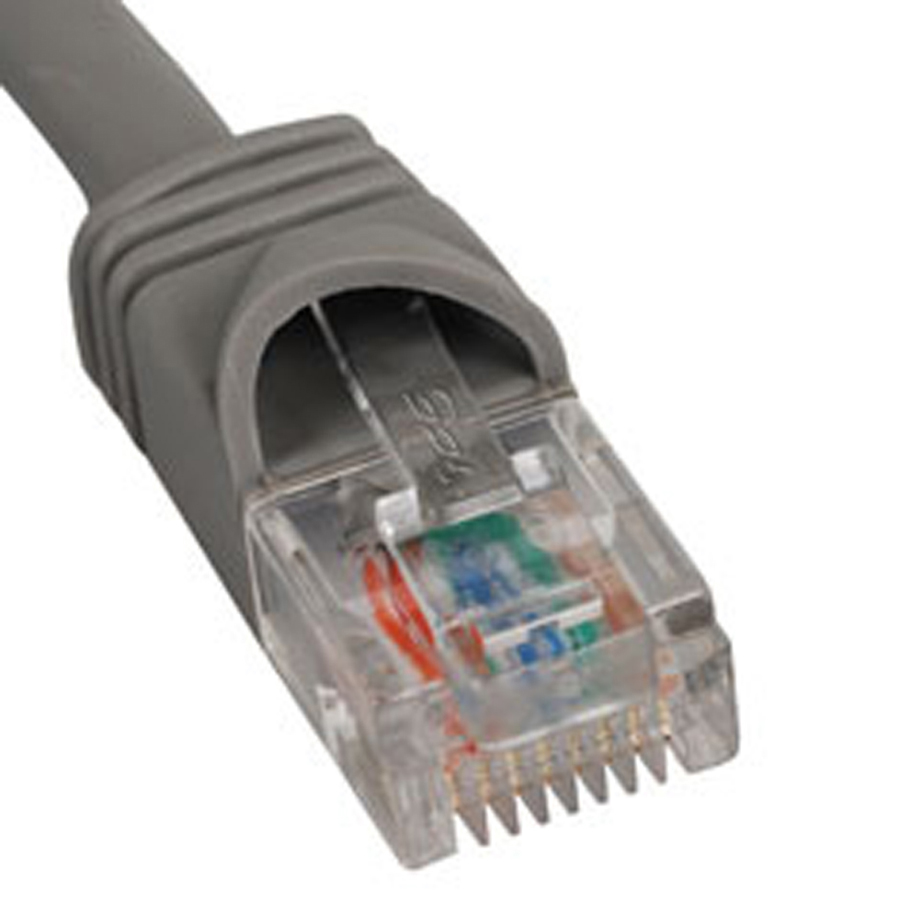 ICC PATCH CORD- CAT 5e- MOLDED BOOT- 14' GY