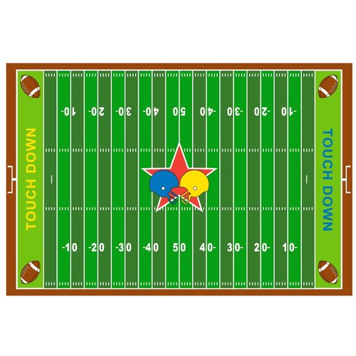 Fun Rugs Fun Time Football Field Kids Rug