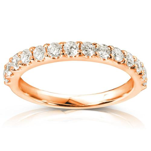 Annello 14k Rose Gold 1/2ct TDW Womens Diamond Wedding Band (G-H, I1-I2) Size 9.5