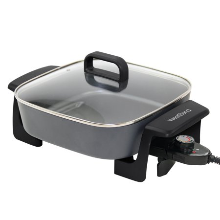- West Bend 72216 Extra-Deep 12-Inch Skillet w/Grease Tray