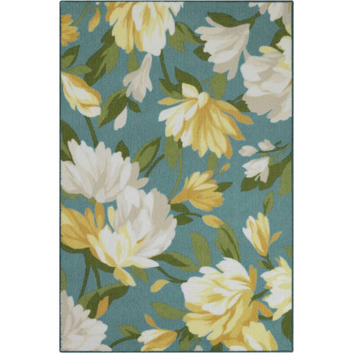 Click here to buy Better Homes & Gardens Floral Berber Print Kitchen Rug, Multiple Sizes and Colors by Maples Industriess, Inc..