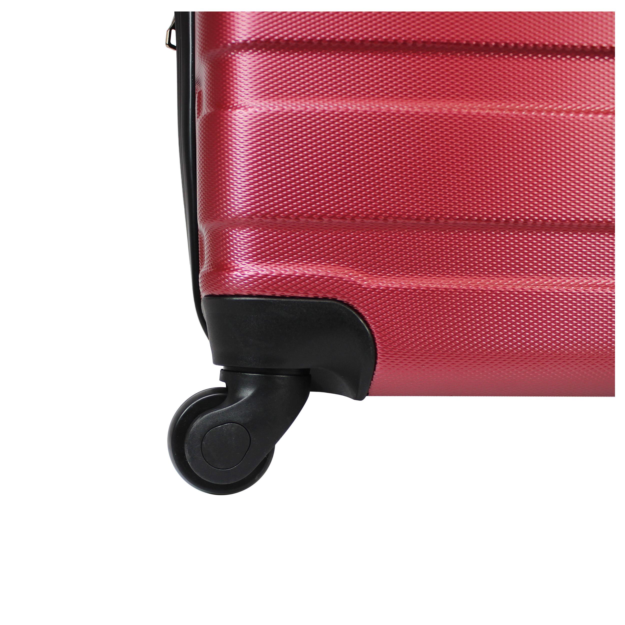 6cde3ceca Luggage & Travel Gear Burgundy AMKA Verano Hardside 3-Piece Expandable  Spinner Upright Luggage Set Luggage