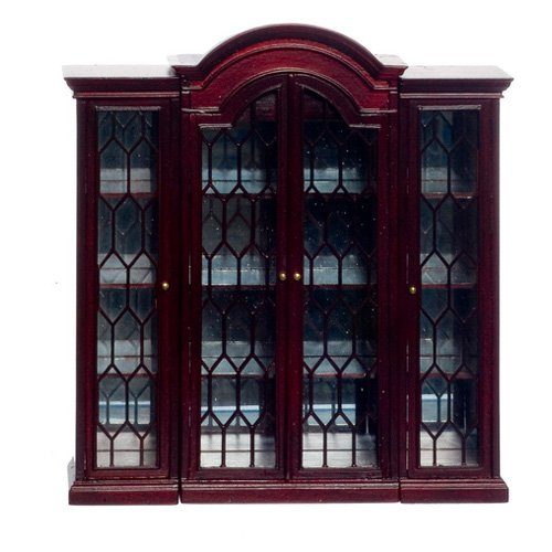 Town Square Miniatures Mahogany Normandy French China Display Cabinet