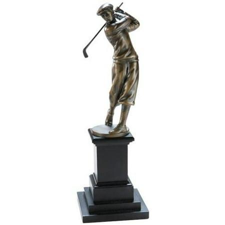 Trophy GOLF Traditional Swinging Golfer Black Silver Bronze Resin New Ha OK-1457 ()