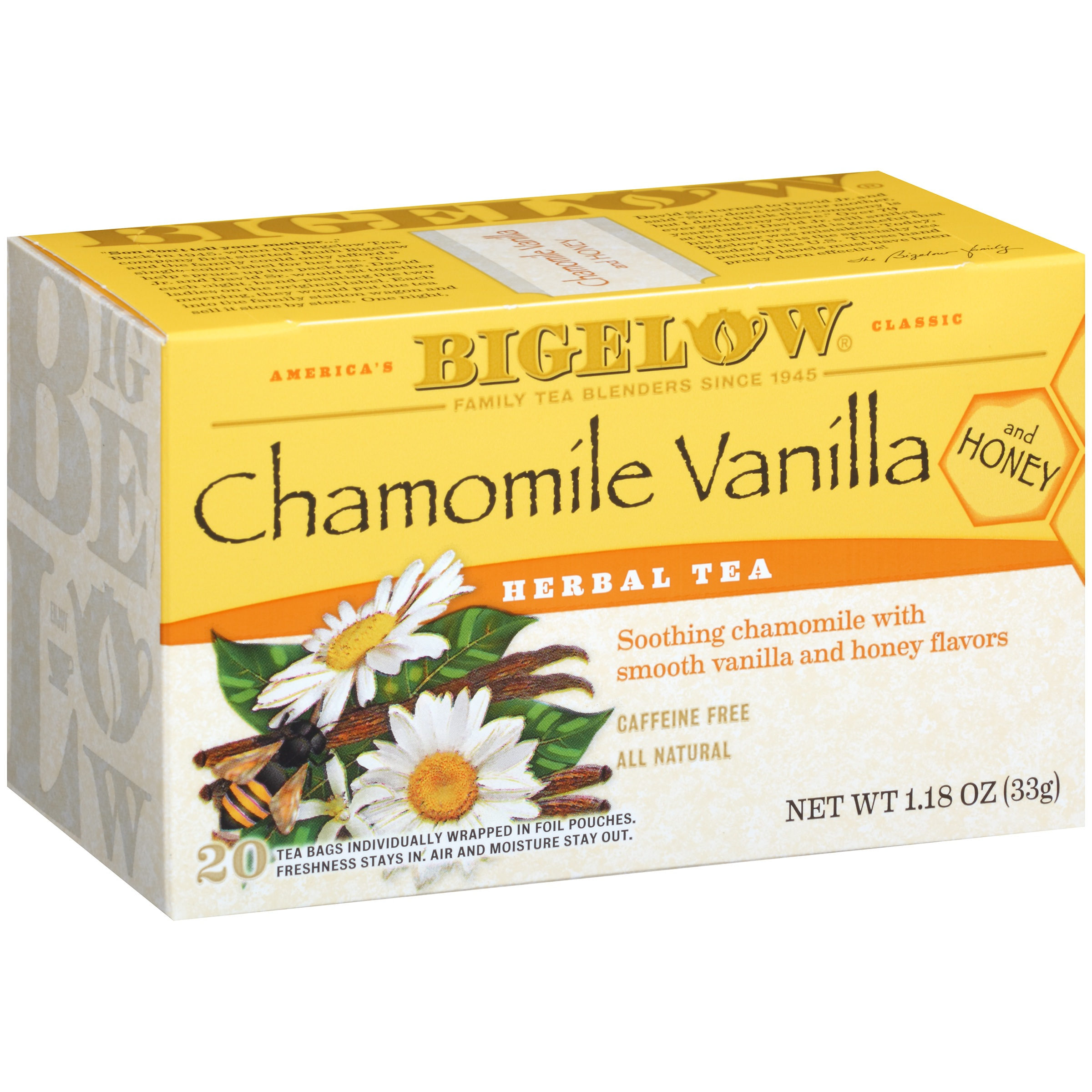 Bigelow® Herbal Tea Chamomile Vanilla and Honey Tea Bags 1.18 oz. Box