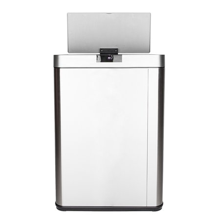 Zimtown 13 Gallon Stainless Steel Automatic Sensor Waste Basket Rubbish / Garbage Bin Kitchen Commercial Office Trash Can Containers Gallon Commercial Trash Can