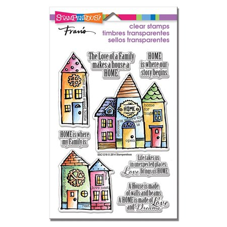 (Family Home Clear Stamps, Fun clear stamps for all your card making scrapbooking and paper crafting projects By STAMPENDOUS)