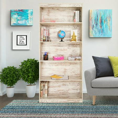 """Skylake 5-Shelf Bookcase (71"""" high), Multiple Finishes"""
