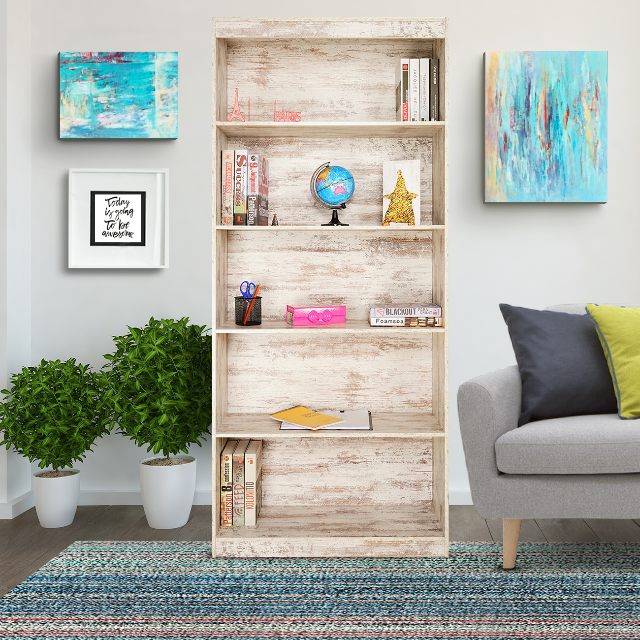 Skylake 5-Shelf Bookcase
