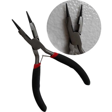 0.375 Inch Round Nose - 5-Inch Round Nose Pliers, Spring Action (Jewel Tool: TP-01057)