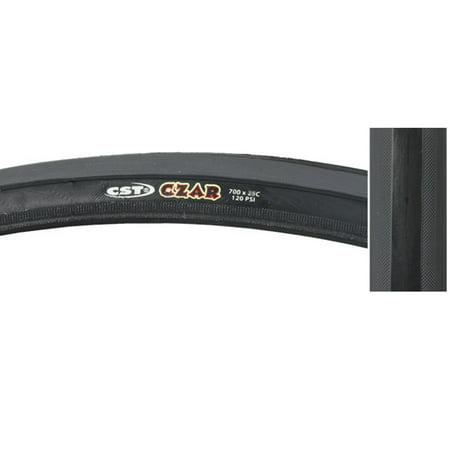 CST Czar Comp Tire Black Grey 700x23c Clincher Road Race Fixed Gear Bike (Bike Race Halloween 4)