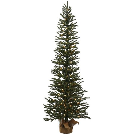 Vickerman 5' Mini Pine Artificial Christmas Tree with 150 Clear