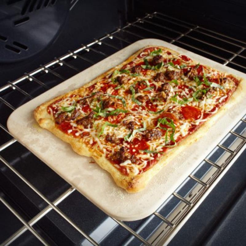 """Charcoal Companion Rectangular Pizza Stone PC9480 , 13"""" x 15"""" by"""