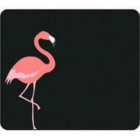 Critter Prints Black Mouse Pad, Flamingo