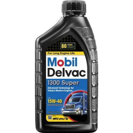 Mobil delvac 15w 40 heavy duty diesel oil 1 quart for Motor oil weight meaning