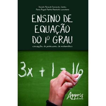 Ensino de equação do 1º grau - eBook (Grau Getönte Gläser)
