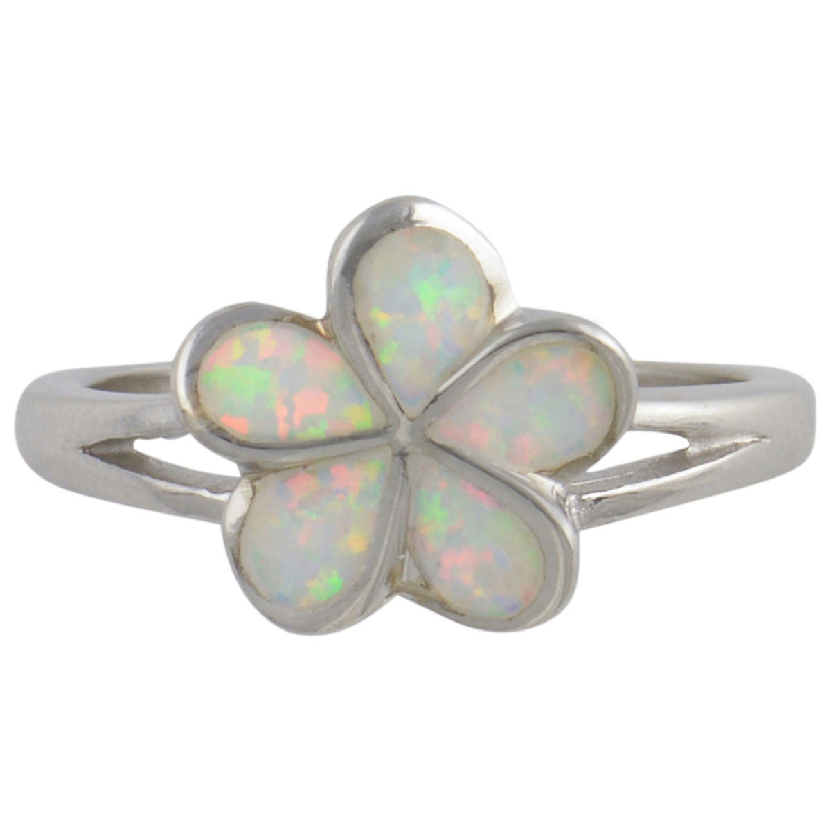 Sterling Silver White Lab Created Opal Flower Ring 925 Jewelry Size 9 by Select Jewelry & Displays