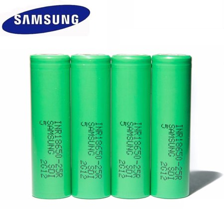 4Pcs SAMSUNG INR18650-25R 2500mAH Rechargeble Battery For SMOKTech Vape